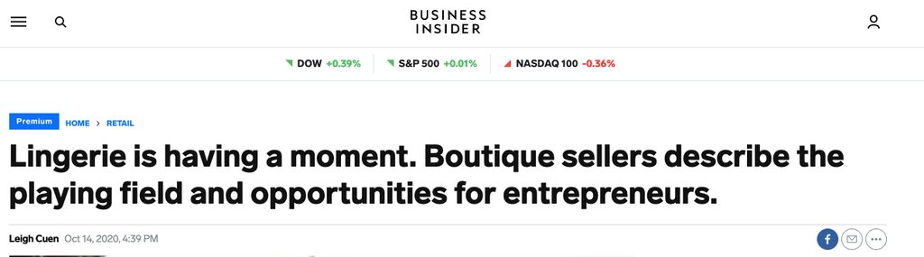 Business Insider lingerie industry article