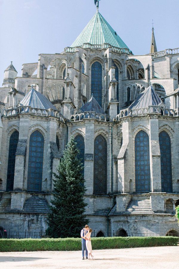 Angela Friedman's honeymoon at Chartres cathedral, photographed by Abby Grace
