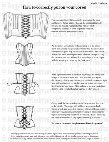 how to lace up your corset, corsetry lacing instructions diagram picture videos how-to