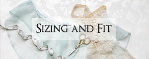 size charts and fitting guides for vintage style lingerie and lounge wear