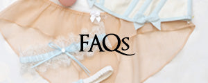 Angela Friedman lingerie FAQs instagram landing page, about the brand luxury underwear