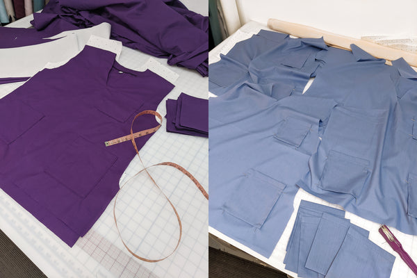 Sewing and manufacturing PPE and scrubs for the NHS in London