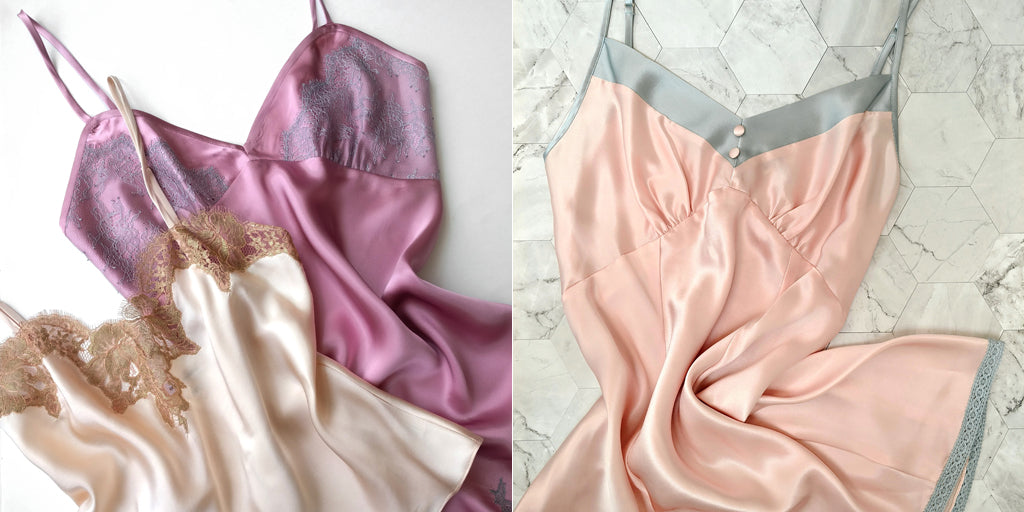 Silk slips and camisoles
