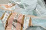 Marie Antoinette inspired pastel lingerie and underwear set