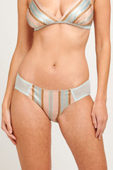 Marianne pink and blue silk knickers with stripes