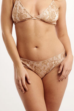 Angela Friedman blush pink silk and French lace knickers