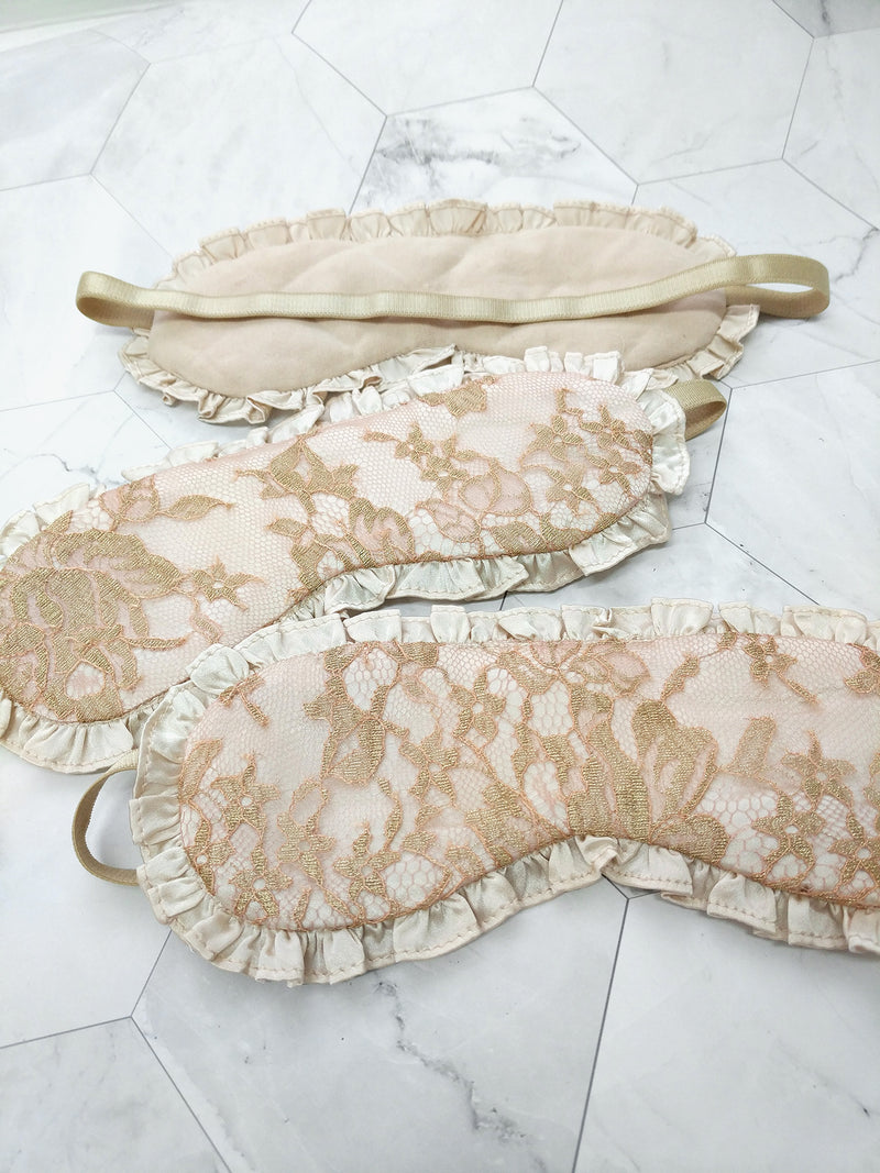 100% silk sleep mask sleepmask eye mask, luxury lace masks, lingerie boudoir gifts for her Angela Friedman accessories