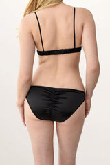 Vintage inspired silk panties in black satin