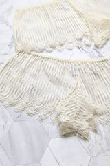 Vintage style french knickers in off-white lace
