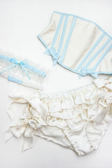 Wedding lingerie set and waspie corset to cinch your waist for your honeymoon