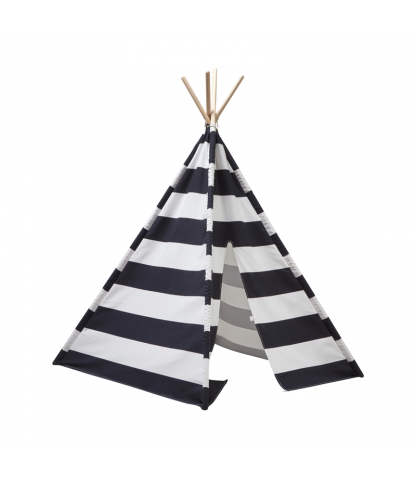 Kids Concept - Tipi Tent Black And White Stripes - Baby at the Bank