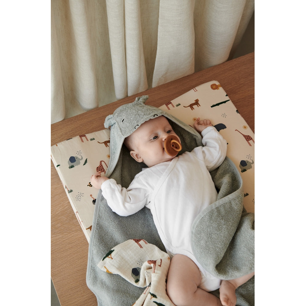 Liewood - Augusta Hooded ToddlerTowel Dumbo Dove Blue