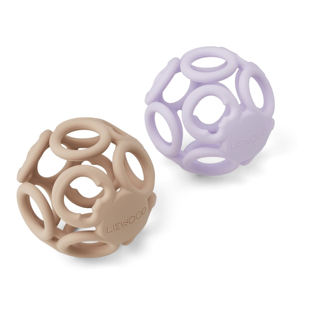 Liewood - Jasmin Teether Ball 2 Pack Lavender/Rose