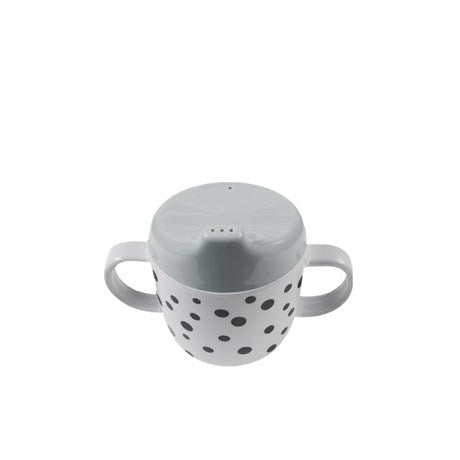 Done By Deer - 2 Handle Spout Cup Happy Dots Grey - Baby at the Bank