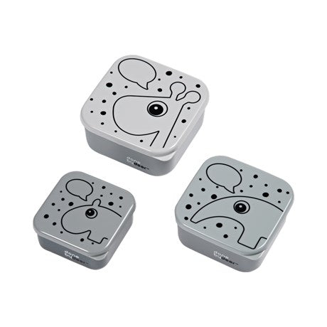 Done By Deer - 3 Piece Snack Box Grey