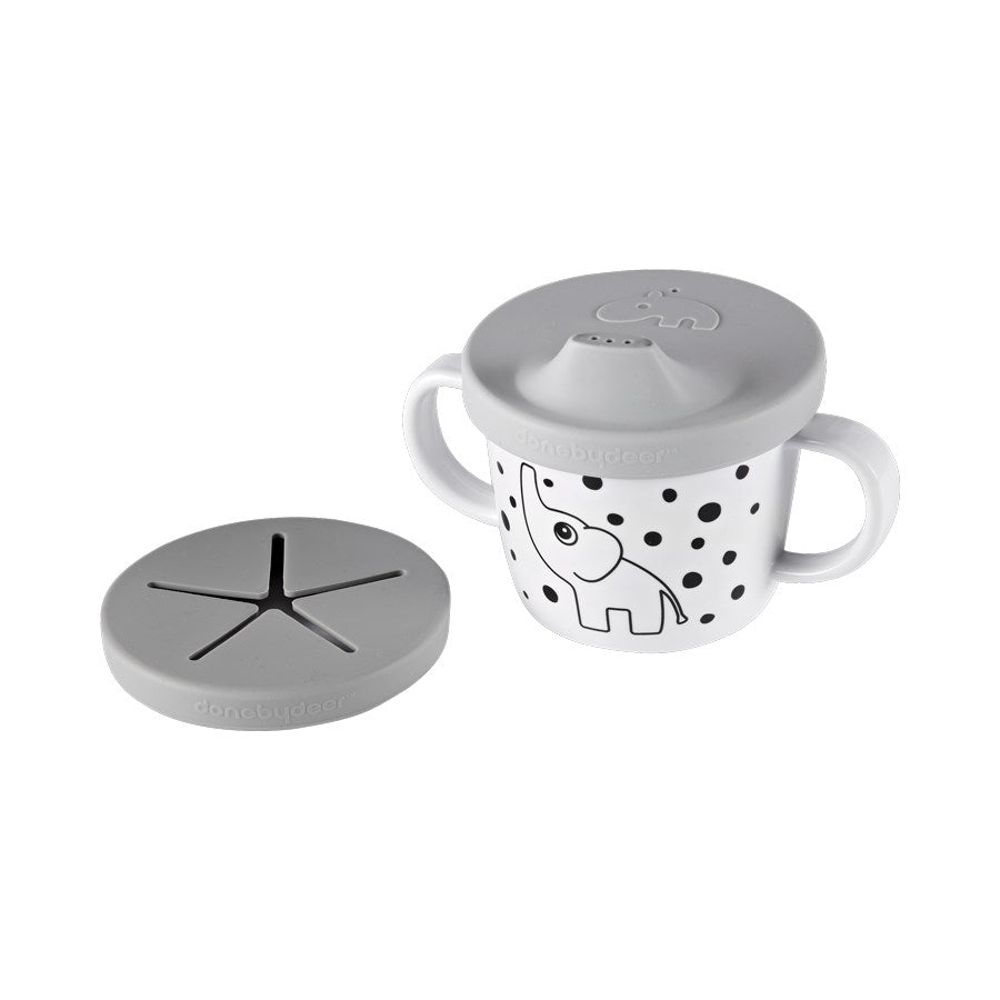 Done by Deer - Silicone Spout/Snack Cup Grey