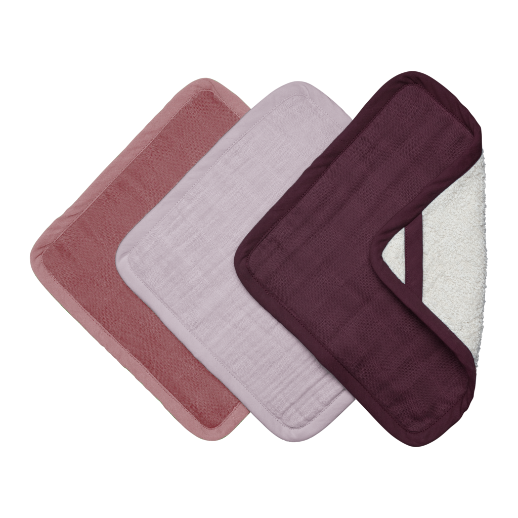 Fabelab - Wash Cloths 3 Pack Berry