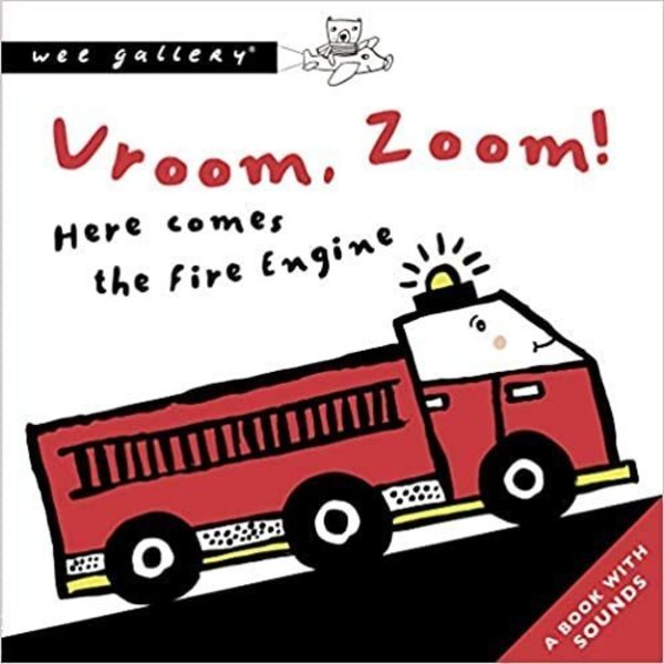 wee gallery-vroom sound book- baby at the bank