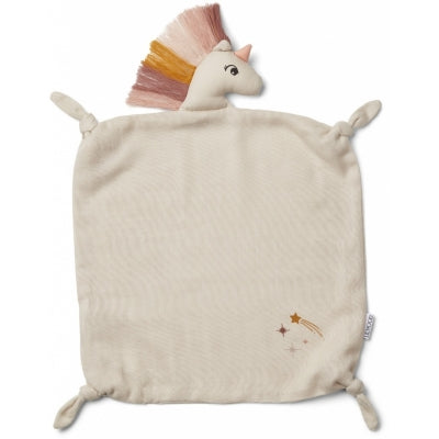 Liewood-Unicorn cuddle cloth-baby at the bank