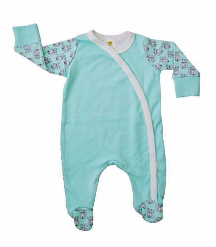 Baby Acorn - Fox Aqua Sleepsuit - Baby at the Bank