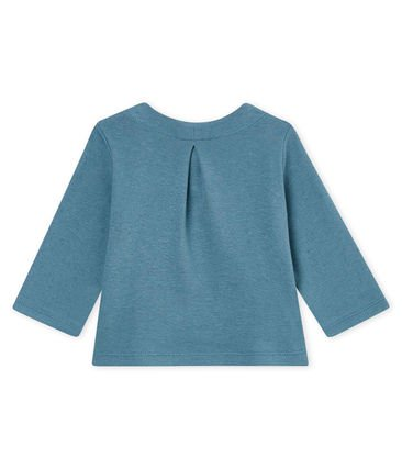 petit bateau-blue cardigan- baby at the bank