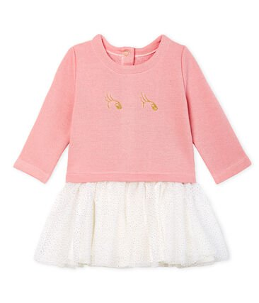 petit bateau-party dress pink-baby at the bank