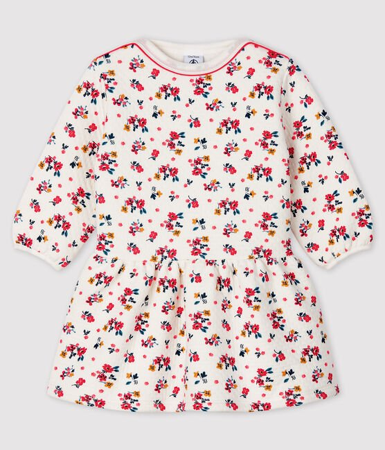 petit bateau-long sleeved flower dress- baby at the bank