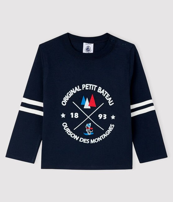 petit bateau-long nay tshirt- baby at the bank