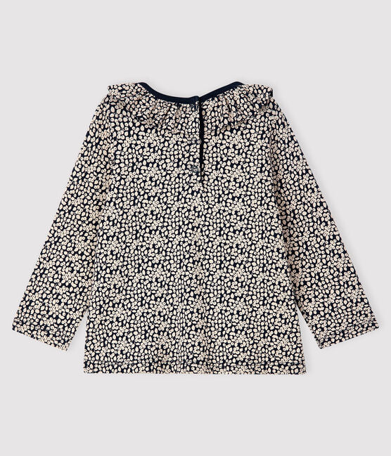 Petit Bateau- Long Sleeved Blouse Navy/ Cream