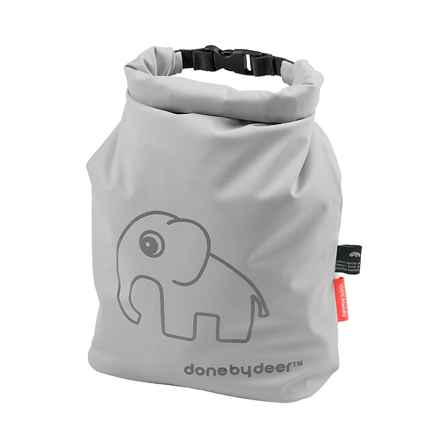 done by deer- roll top storage bag elphee grey- baby at the bank