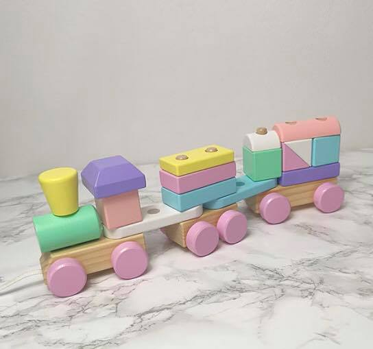 Little Stories - Pastel Wooden Train