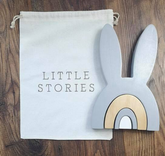 Little Stories - Wooden Bunny Stacker