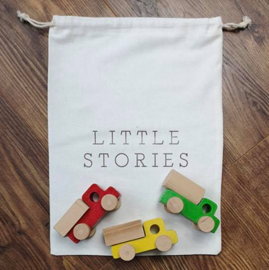 Little Stories - Wooden Toy Truck Set