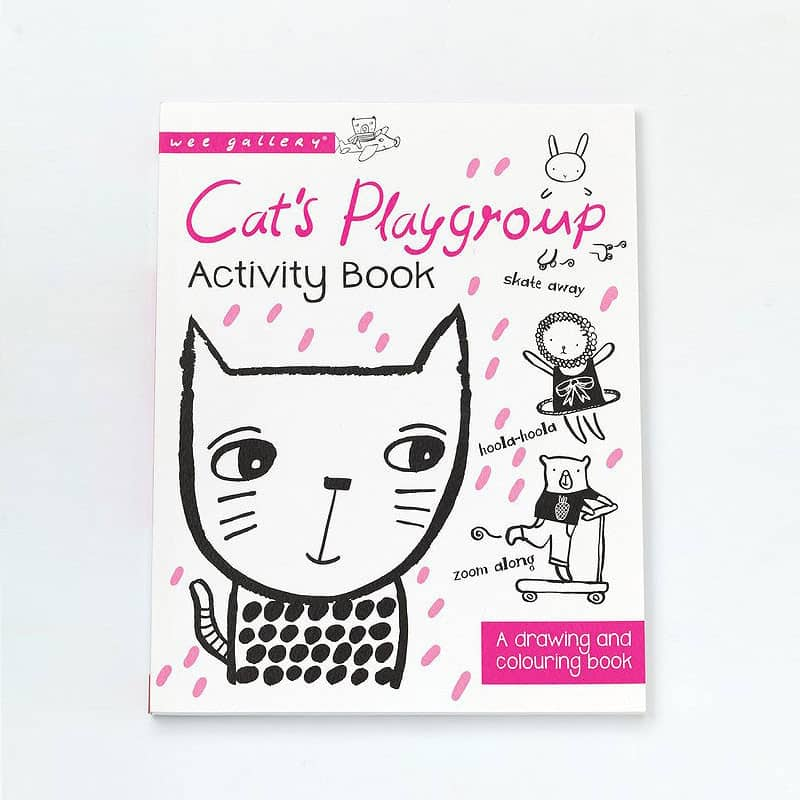 wee gallery-cats drawing book-baby at the bank