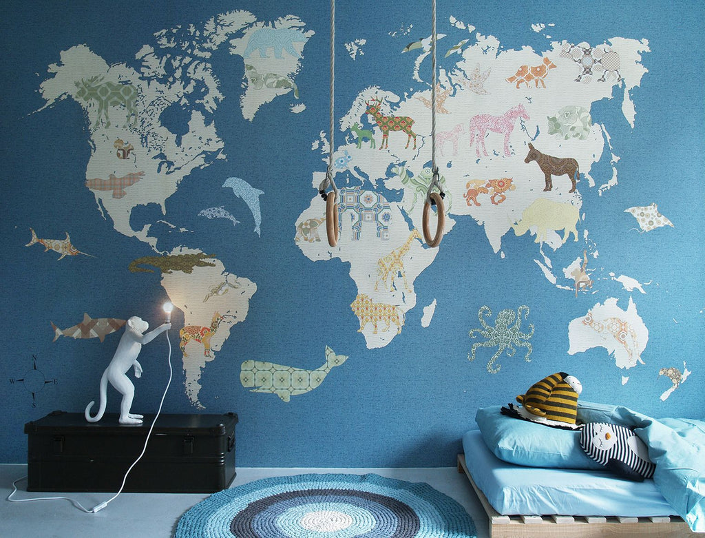 Inke Murals World Map - Baby at the Bank