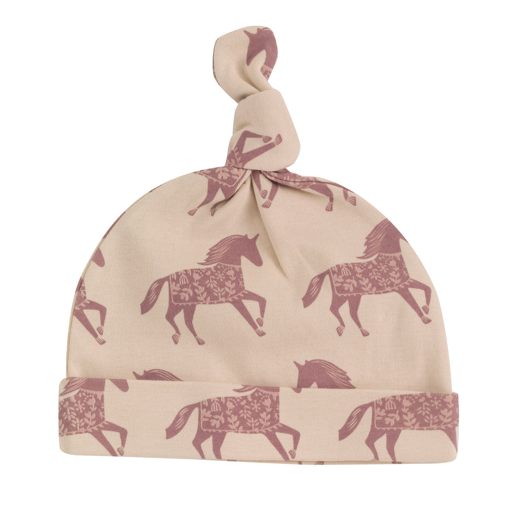 Pigeon Organics - Knotted Hat Horse Rose