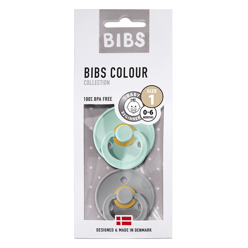 Bibs - Twin Dummy Pack Size 1 Cloud/Mint