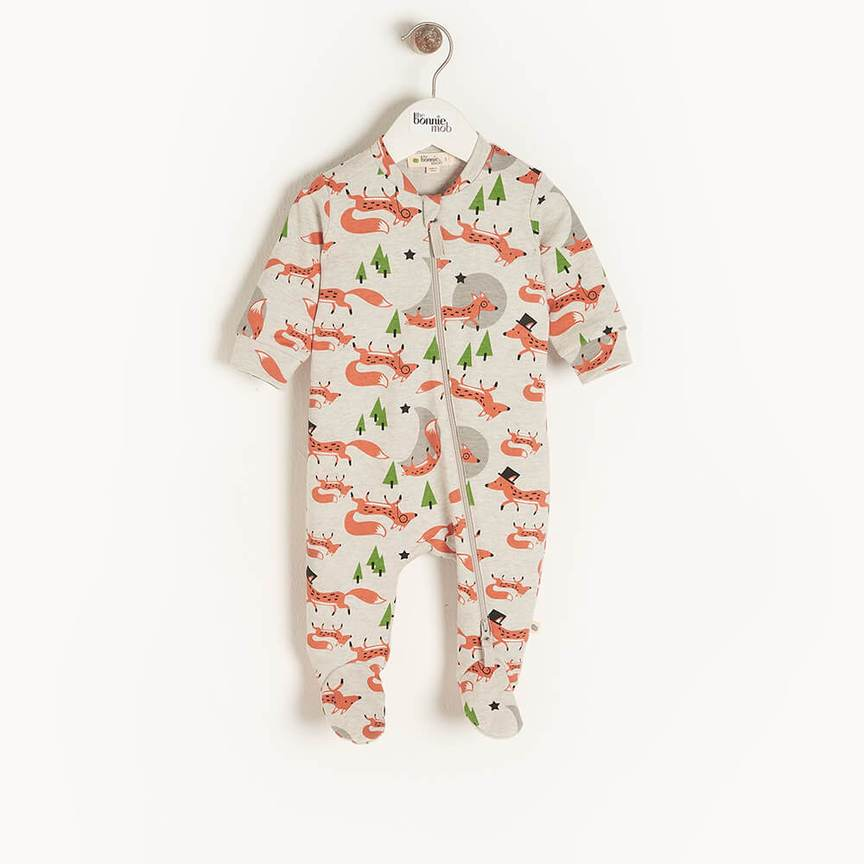 bonnie mob-unisex fox babygrow-baby at the bank