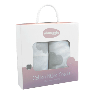 Shnuggle - Cloud Fitted Sheets - Baby at the Bank