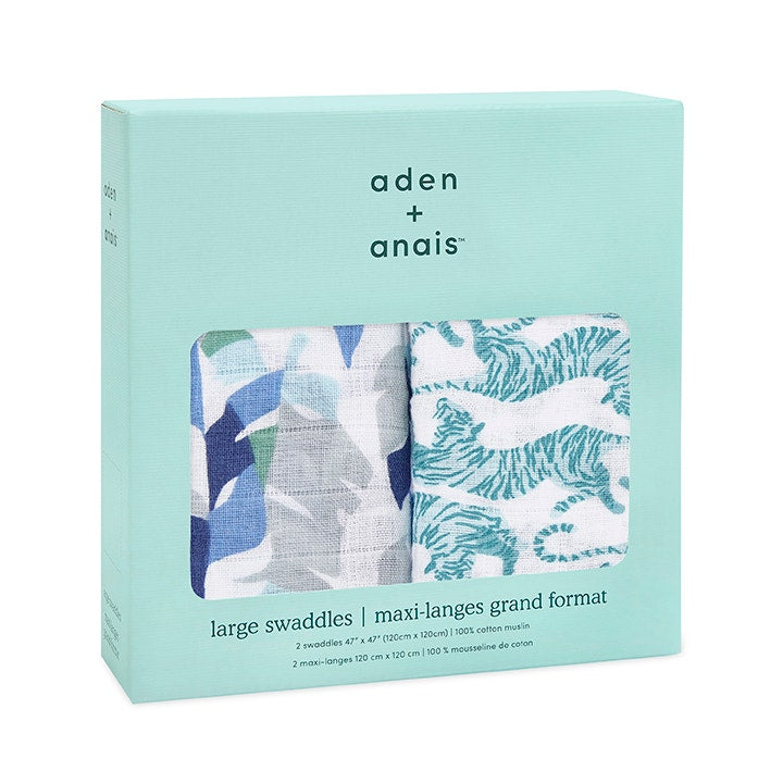 Aden & Anais - Dancing Tiger Swaddle 2 Pack