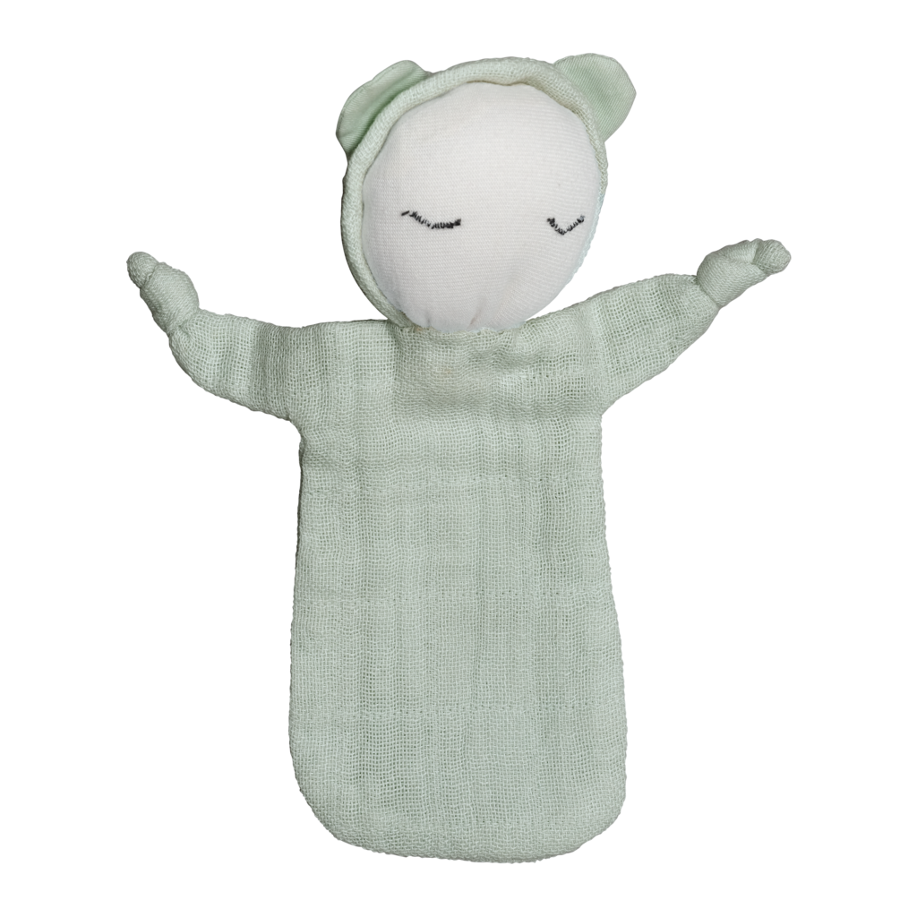 fabelab-cuddle doll beachgrass-baby at the bank