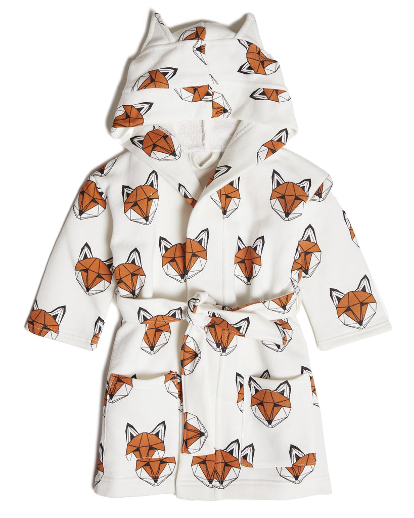 Tobias And The Bear - Just Call Me Fox Dressing Gown - Baby at the Bank