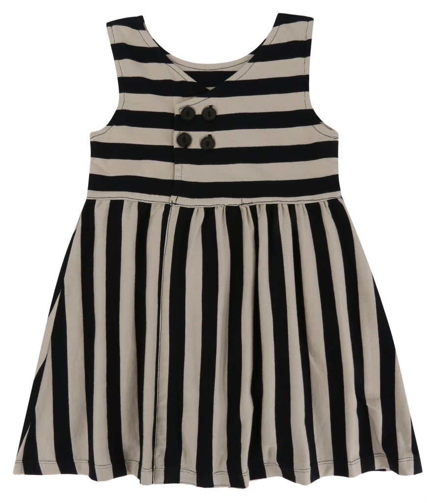 turtledove - wide stripes party dress -baby at the bank