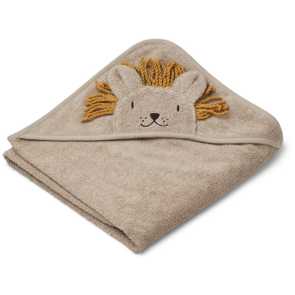 liewood-lion albert toddler towel-baby at the bank