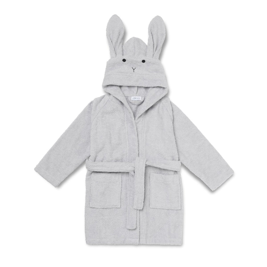 Liewood Lily Bathrobe Rabbit Dumbo Grey - Baby at the Bank