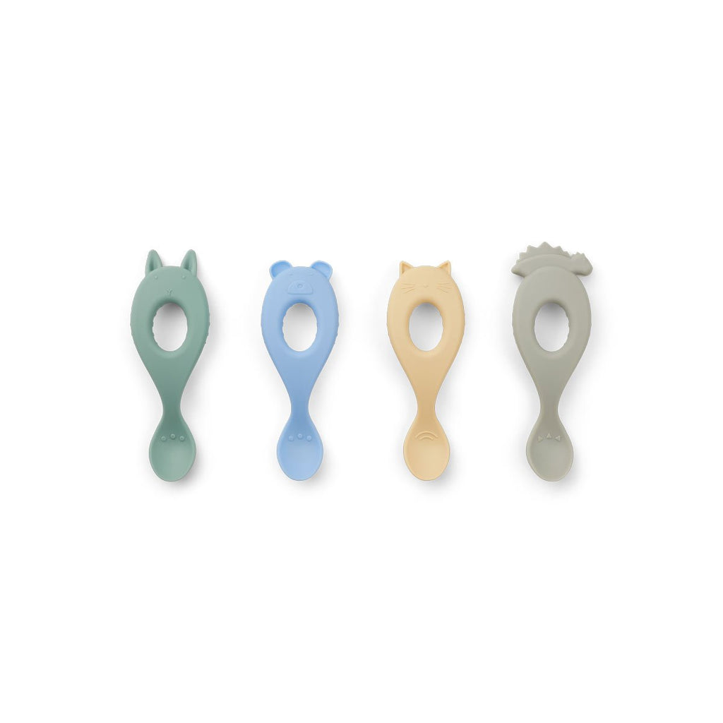 Liewood- Liva Silicone Spoon 4 pack peppermint multi mix