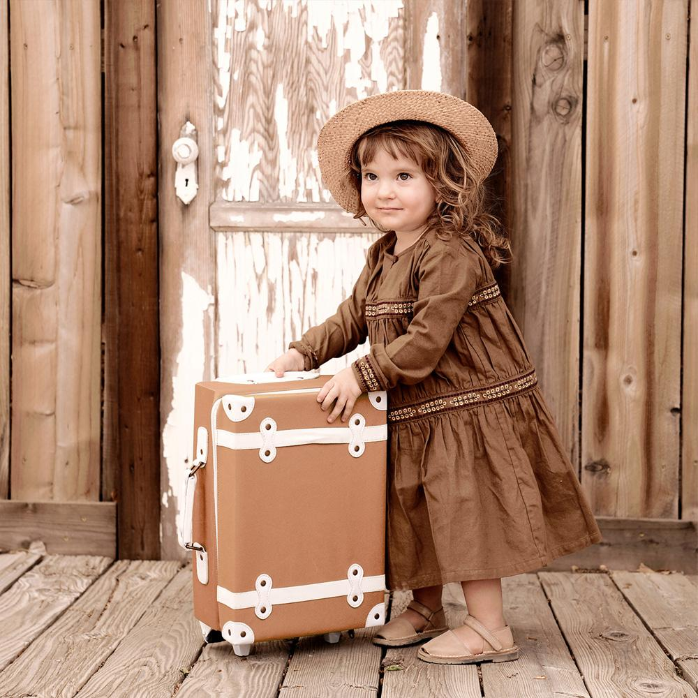 Ollie Ella See-Ya Suitcase Rust - Baby at the Bank