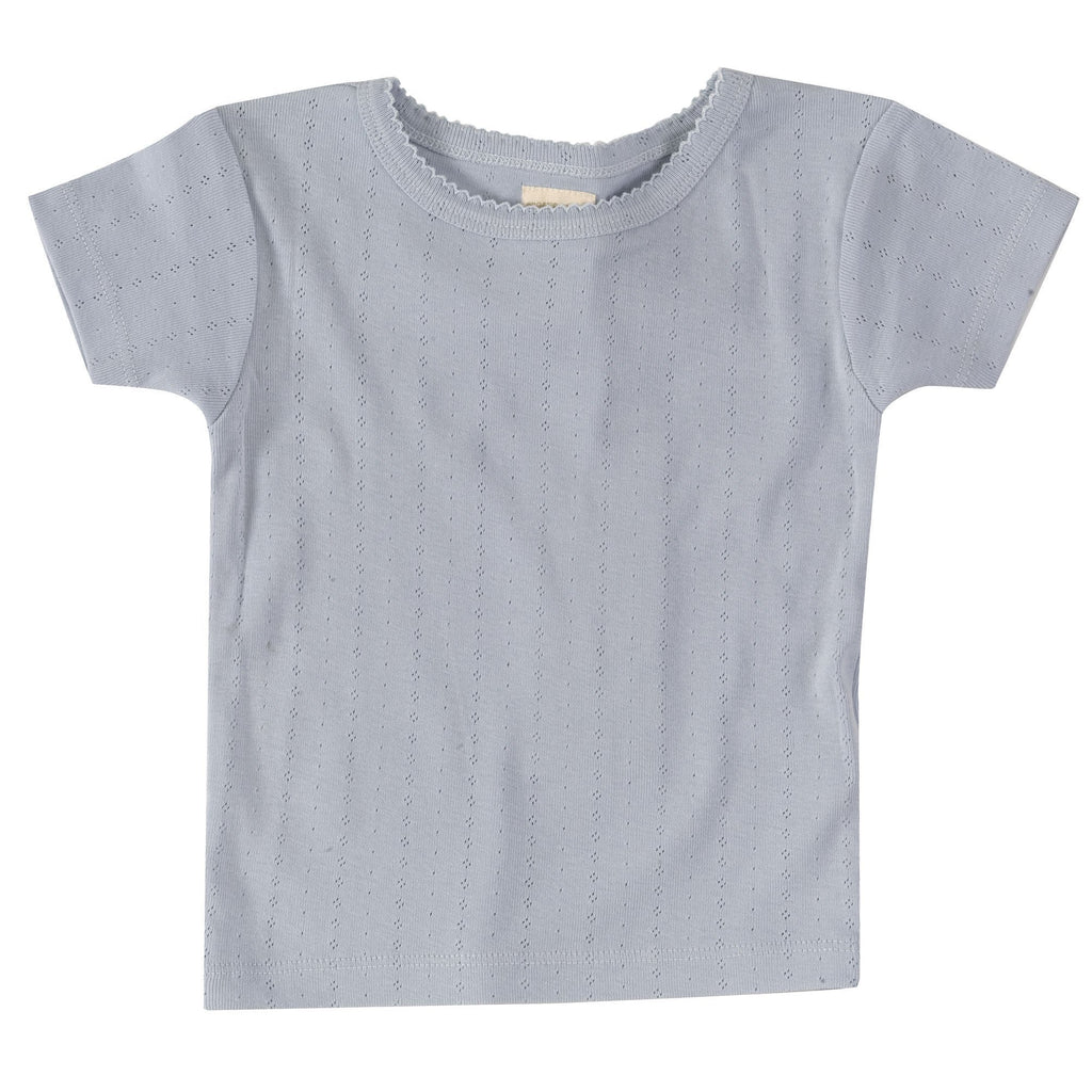 Pigeon Organics - Pointelle T-shirt Pale Blue