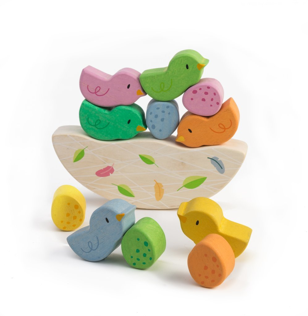tender leaf toys-stacking birds -baby at the bank