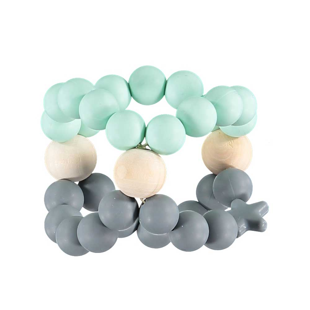 Nibbling - Nib Cube Teether Mint & Grey